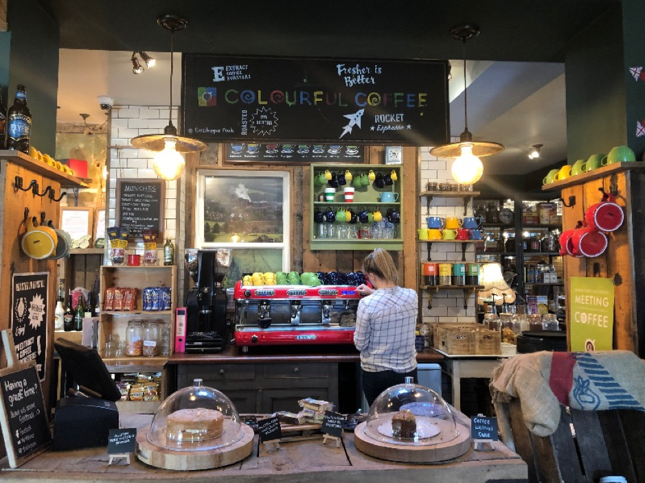 colourful coffee - zoning within pubs